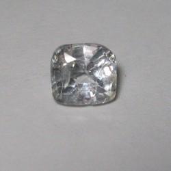 Safir Putih Kotak 1.09 carat