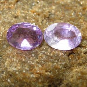 Batu Permata Light Purple Amethyst 2 pcs 1.20 carat