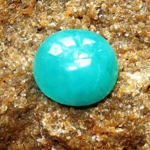 Batu Zamrud Hijau Opaque Round Cabochon 2.60 carat