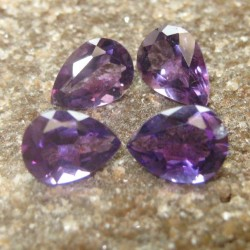 4 Pcs Pear Purple Amethyst 2.50 carat