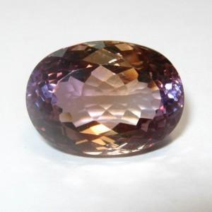Batu Permata Ametrine Ungu Emas 16.47 carat Bagus