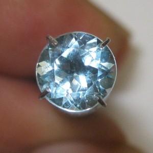 Batu Permata Topaz 1.75 carat Round 7mm Sky Blue
