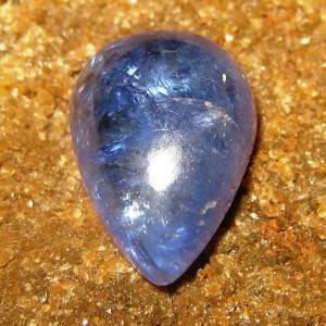 Batu Permata Tanzanite Pear Cabochon 4.80 carat