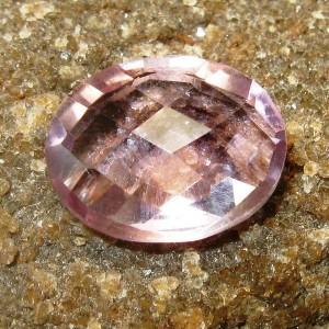 Batu Permata Oval Buff Top Amethyst 3.40 carat