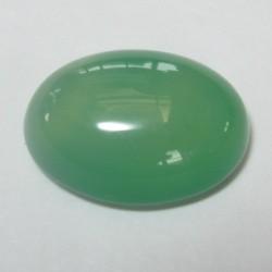 Batu Mulia Chalcedony Hijau 12.30 carat Oval Cabochon