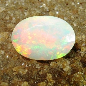 Yellow Facet Opal Play Color 1.20 carat