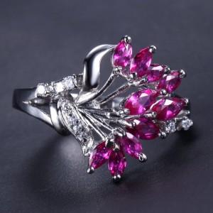 Cincin Emas Putih Ruby 3 carat Ring 7