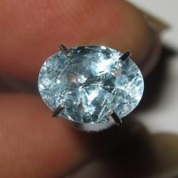 Topaz Biru Langit Oval 1.50 carat