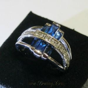 Bahan cincin metal white gold filled 10K, awet dan tahan keringat