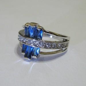 Cincin Fashion Model Blue Sapphire Cz Ring 6