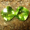 Cushion Peridot 2 Pcs Buff Top 3.15 carat