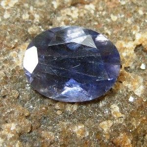 Violetish Blue Oval Iolite 1.55 carat