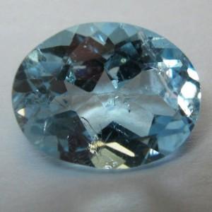 Permata Topas Oval 2.15 carat Warna Sky Blue