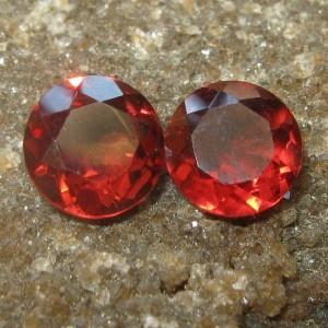 Rhodolite Garnet Merah 2 Pcs 1.00 carat