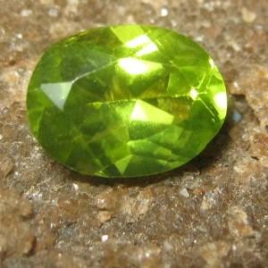 Peridot Greenish Oval 1.60 carat