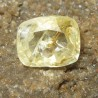Cushion Sapphire Light Yellow 1.35 carat