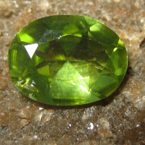 Oval Greenish Peridot 1.10 carat