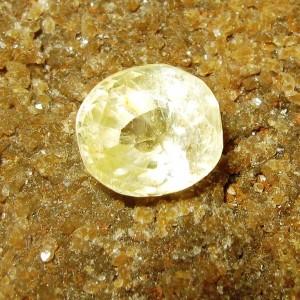 Safir Kuning Terang Oval 1.21 carat