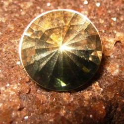 Lemon Quartz Round Concave Cut 3.30 carat