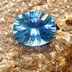 Laser Cut London Blue Topaz Oval 2.35 carat