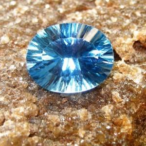 Laser Cut London Blue Topaz Oval 2.35 carat
