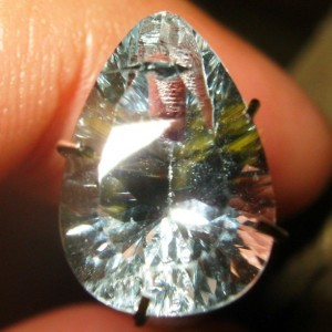 Light Blue Topaz Pear Concave Cut 3.62 carat