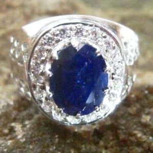 Cincin Safir Silver 925 Ring 8.5US