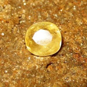 Safir Light Yellow Fancy Cut 1.19 carat