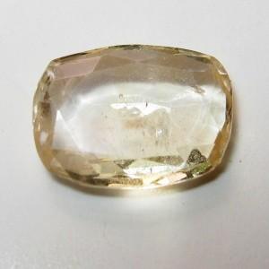 Safir Cushion Kuning Terang 0.98 carat