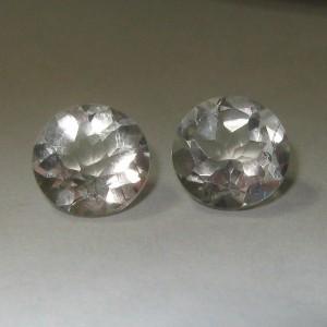 Green Amethyst Round Couple 1.2 carat