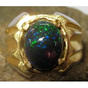 Cincin Black Opal Ring 8US
