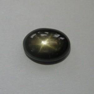 Black Star Sapphire 3.88 carat Oval Cab