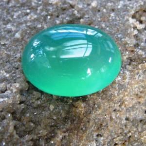 Chalcedony Hijau Bening Kekuningan 10.40 carat