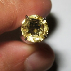 Round Yellow Citrine 1.10 carat