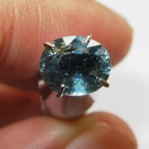 Blue Green Sapphire Oval 1.43 carat Natural Unheat