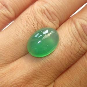 Green Chalcedony Oval Cab 10.20 carat