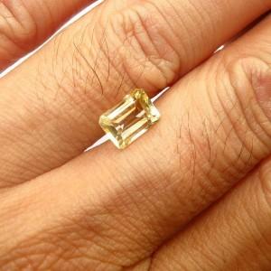 Citrine Kuning Oktagon Cut 1.50 carat