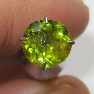 Round Green Peridot 1.50 carat