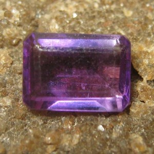 Purple Amethyst Rectangular 0.84 carat
