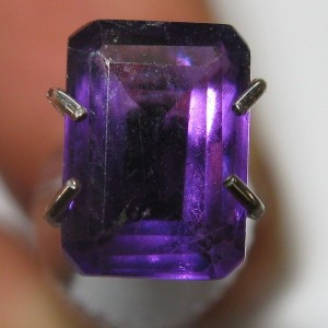 Purple Amethyst Rectangular 0.95 carat