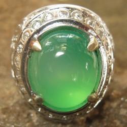 Cincin Chalcedony Titanium Ring 7.5 US