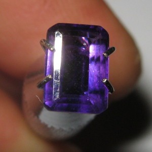 Rectangular Purple Amethyst 0.98 carat