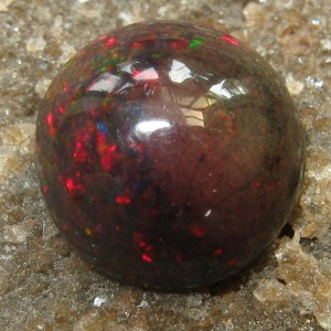 Round Cab Black Opal 1.35 carat