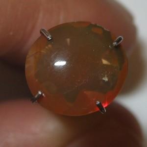 Orangy Brown Fire Opal 1.24 carat