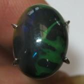 Lightning Green Black Opal 2.00 carat