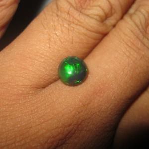 Black Opal Round 1.37 carat