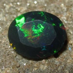 Black Opal Oval Cut 1.58 carat