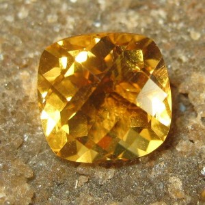 Orangy Fire Citrine Cushion 1.85 carat