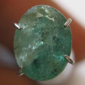 Zamrud Hijau Oval 1.45 carat