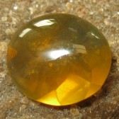 Buff Top Orangy Fire Opal 2.45 carat